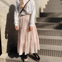 sheer tiered skirt(peach)