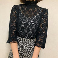Black lace elegant tops