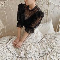 antique lace tops(black)