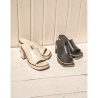 square toe leather sandals