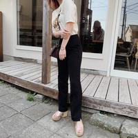 straight slacks pants(black)