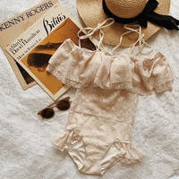 vintage lace one-piece swimwear