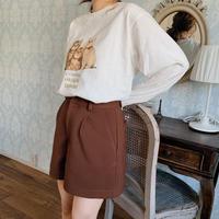 basic tuck short pants