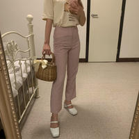lavender pink gingham check pants