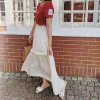 milky satin skirt