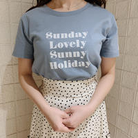 Holiday T-shirts(ice blue)
