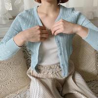 fresh summer knit cardigan