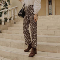 flower dot flare pants