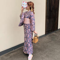 embroidered flower Yukata