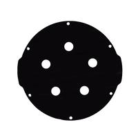 4インチアルミエンドキャップ(5穴) − Aluminum End Cap with 5 Holes (4″ Series)