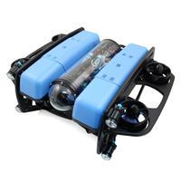 【水中ドローン社】BlueROV2オクトパス スラスター8基・ライト4個搭載・水深100m耐圧保証・200m標準テザーケーブル・水中挿抜可能コネクタ付属モデル【スターティングセット】