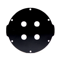 3インチアルミエンドキャップ(4穴) − Aluminum End Cap with 4 Holes (3″ Series)