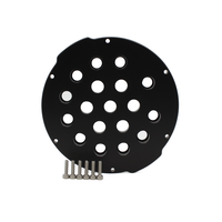 4インチアルミエンドキャップ(18穴) − Aluminum End Cap with 18 Holes (4″ Series)