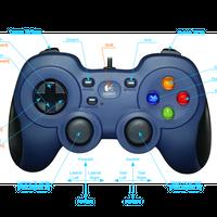 Logicool G ゲームパッド F310r ダークブルー PC ゲームコントローラー Blue Robotics社推奨 Xinput F310 日本国内正規品 2年間メーカー保証