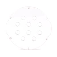 4インチ透明アクリルエンドキャップ(10穴) − Clear Acrylic End Cap with 10 Holes (4″ Series)