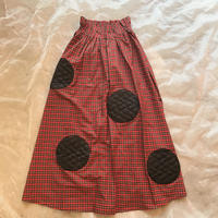 frankygrow  UNEVEN BEAR QUILTING DOTS CHECK LONG SKIRTレディース size
