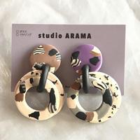 studio ARAMA circle awase ピアス