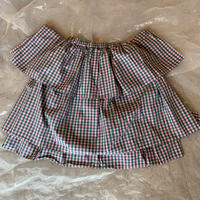 folk made  angel check  skirt