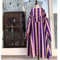 folk  made  stripe  dress  L size