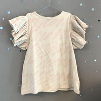 frankygrow  H/W BACK RIBBON  FRILL  TEE