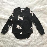 folk made afghan hound long-shirt Lsize