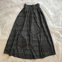 franky grow BEAR QUILTING DOTS POP LONG SKIRT レディースsize