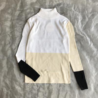 frankygrow MULTI COLOR SWELL SHOULDER HIGH-NECK KNIT レディースsize