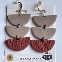 boncla.made 半円3連イヤリング