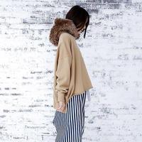 michirico Fur hoodie  womens size