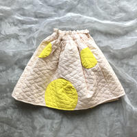 franky grow BEAR QUILTING SWITCHING SKIRT LL size