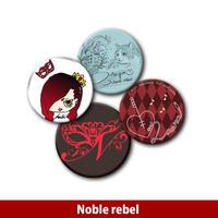 Noble rebel 缶バッジセット「不屈の象徴」