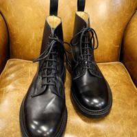 18.12 Rejected Tricker's / Black / Plain Toe Boots / Leather W Sole / Size 7