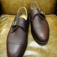 18.56 Rejected Tricker's / Brown / Monk Shoes / Leather W Sole / Size 7 half