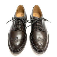 19.65 Rejected Tricker's / Dark Brown / Country Brogue Shoes / Dainite W Sole / Size 7H