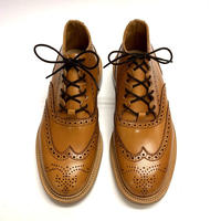 19.35 Rejected Tricker's / Acorn Antique / Gillie Shoes / Leather  Sole / Size 6H-4Fitting