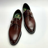 19.11 Rejected Tricker's /  Burgundy / Monk Shoes / Leather  Sole / Size 8