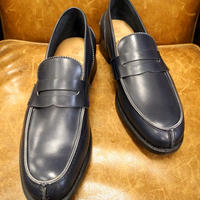 18.36 Rejected Tricker's / Navy / Unlined Loafers / Leather Sole / Size 7