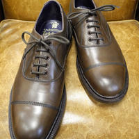 18.75 Rejected Tricker's / Brown / Cap Toe Oxford Shoes / Leather Sole