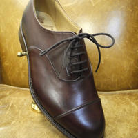 18.88 Rejected Tricker's / Brown / Cap Toe Oxford Shoes / Leather Sole / Size 6 half,6fitting