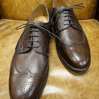 18.101 Rejected Tricker's / Brown Grain / Full Brogue Shoes / Leather W Sole / Size 8