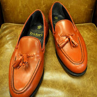 18.46 Rejected Tricker's / Red / Tassel Slip On Shoes / Leather Sole / Size 8