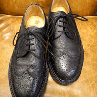 18.31 Rejected Tricker's / Black / Long Wing Tip Shoes / Leather W Sole / Size 6 half