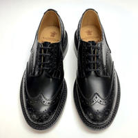 19.50 Rejected Tricker's / Black / Country Shoes / Leather W Sole / Size 6H