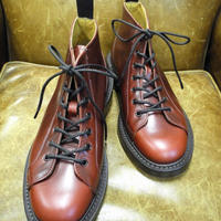 18.59 Rejected Tricker's / Red Brown / Monkey Middle Boots / Leather W Sole / Size 6
