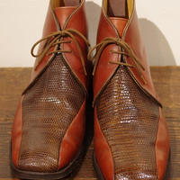Tricker`s Chestnut × Lizard Boots  Size 9half