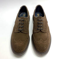 19.63 Rejected Tricker's / Brown Suede / Country Brogue Shoes / Dainite W Sole / Size 7H