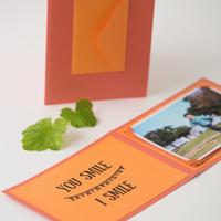 フォトカード オレンジ&カシス(プリント付き)