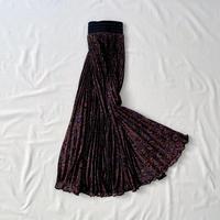 Paisley pleats skirt