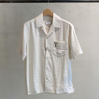 オープンカラーシャツ /white