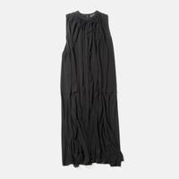 ATON | FRESCA KANOKO | GATHER DRESS | BLACK